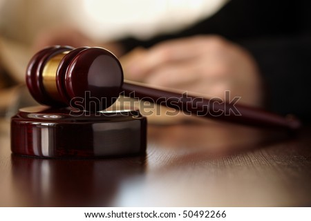 Judges Gavel - stock photo