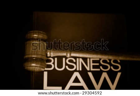 judges gavel on a business law book - stock photo