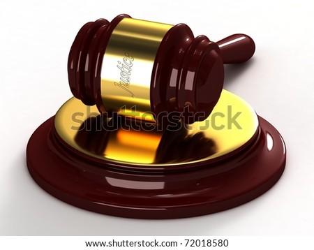 Judges hammer - stock photo