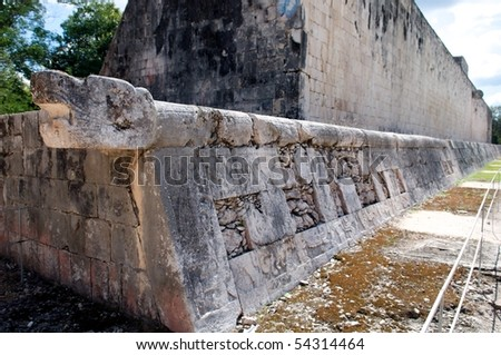 Juego de Palota, Chichen Itza, Yucatan, Mexico - stock photo