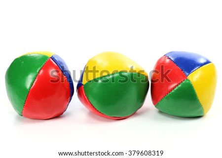 juggling balls isolated on white background