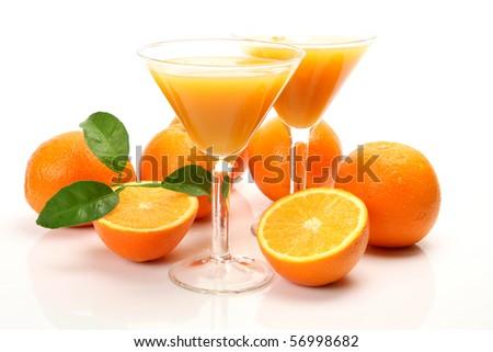 Juice and fruit - stock photo