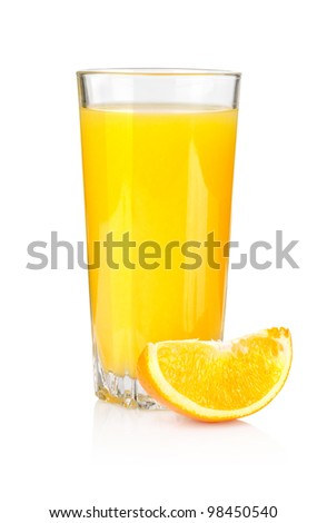 Juice and orange