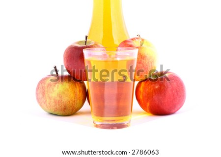 juice apple - stock photo