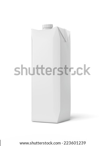 Juice Carton Package  - stock photo