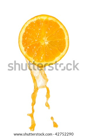 juice flows down from orange