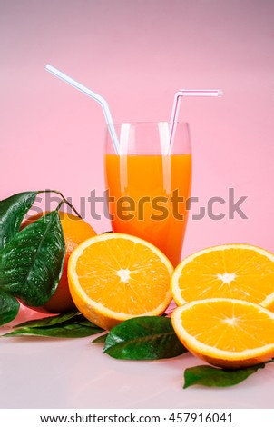 juice from oranges and orange fruits