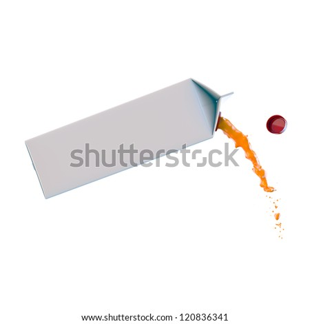 juice packaging isolated on white background