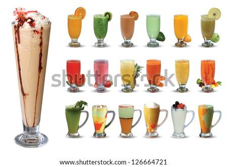 Juice set - stock photo