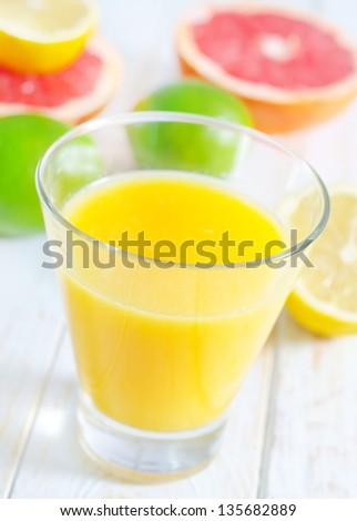 juice with fruit