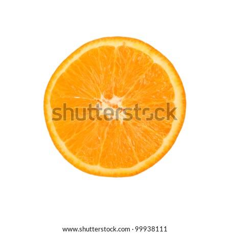 Juicy bright half of the orange orange - stock photo