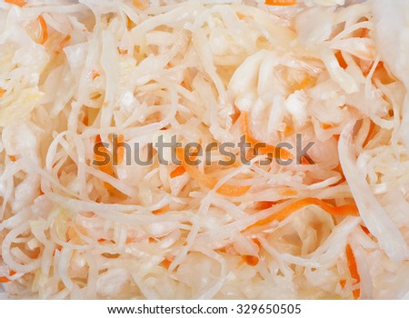 Juicy cabbage sauerkraut texture - stock photo