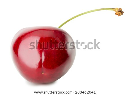 juicy cherry isolated on the white background
