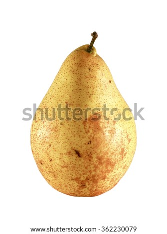 Juicy delicious fresh yellow pear isolated on a white background/ Yellow pear /Juicy delicious fresh yellow pear isolated on a white background - stock photo