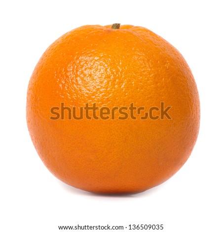Juicy fresh orange isolated on white background - stock photo