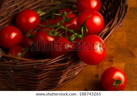 Juicy fresh red summer tomatoes
