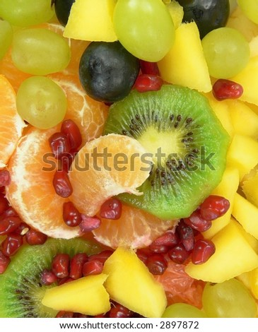 Juicy fruit salad - stock photo
