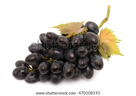 Juicy grapes isolated on a white background