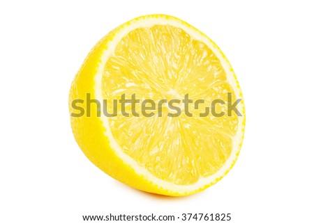 juicy lemons isolated on the white background - stock photo