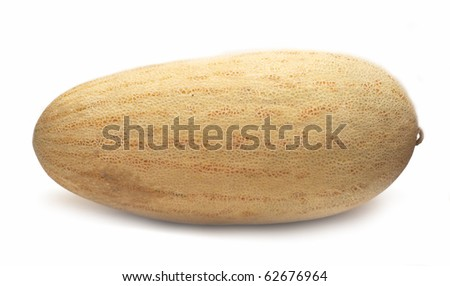 Juicy melon isolated on white background