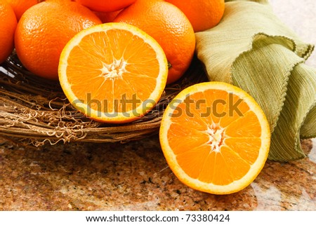 Juicy Navel Oranges make a delicious snack or a tasty addition to fruit salads.