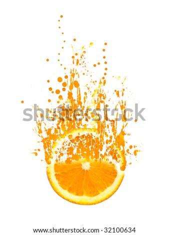 Juicy Orange - stock photo