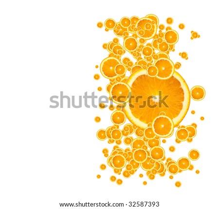 Juicy Orange Background - stock photo
