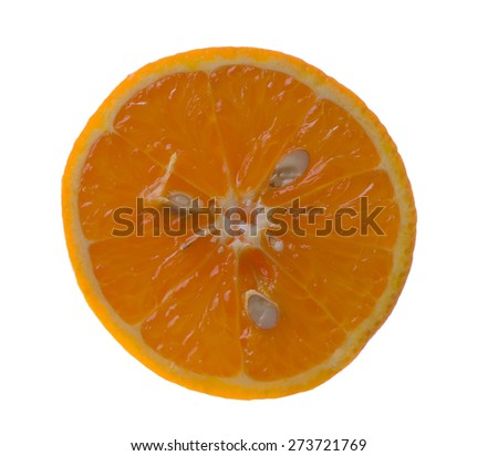 Juicy orange isolated on a white background