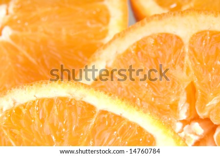 Juicy orange slices as pattern
