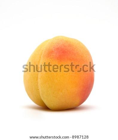 Juicy peach isolated - stock photo