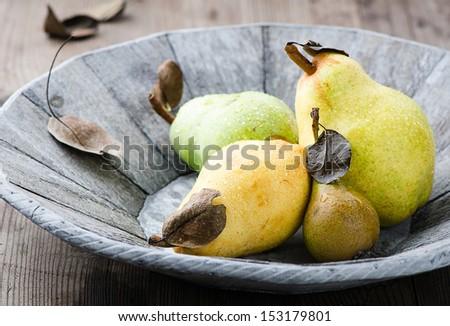 Juicy pears - stock photo