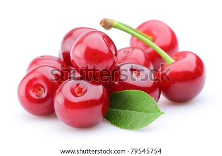 Juicy ripe cherry - stock photo