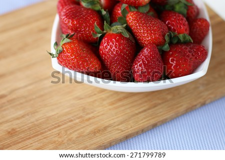 Juicy ripe fresh tasty strawberries - stock photo