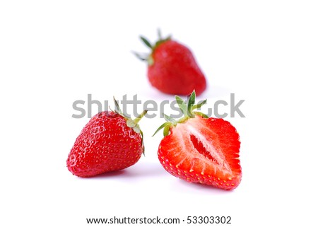 Juicy ripe strawberries - stock photo