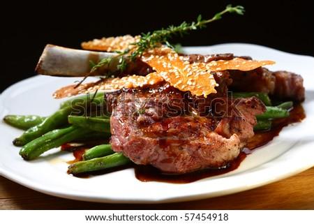 juicy steak - stock photo