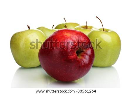 juicy sweet apples isolated on white