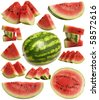 Juicy water-melon for all tastes - stock photo