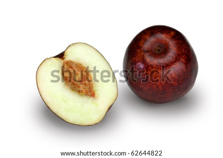 Jujube (Ziziphus Jujuba) fruit with medicinal properties.Clipping path included.