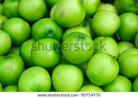 Jujubes fruit. Tropical green fruit in Asia.