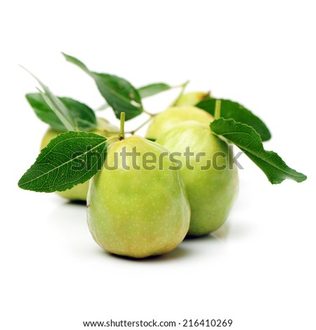 jujubes on white background