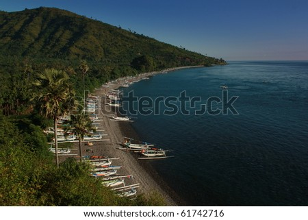 Jukung beach - stock photo