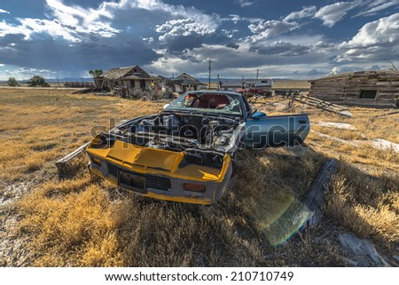 Jul 12th 2014 Abandoned vehicle Ghost Town City of Cisco Utah