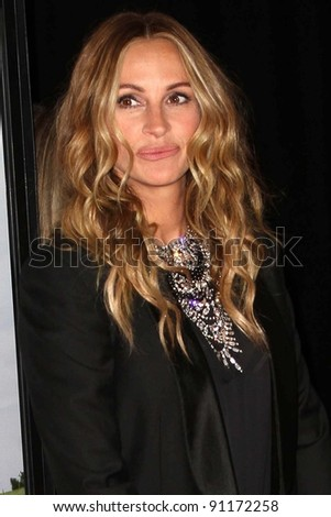 "Julia Roberts at the  ""Fireflies In The Garden"" Film Premiere, Pacific Theaters, Los Angeles, CA 10-12-11 - stock photo"