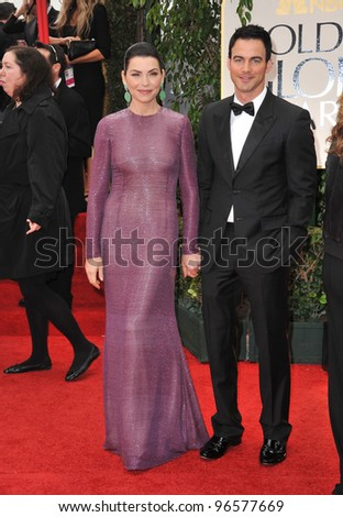 Julianna Margulies & Keith Lieberthal at the 69th Golden Globe Awards at the Beverly Hilton Hotel. January 15, 2012  Beverly Hills, CA Picture: Paul Smith / Featureflash