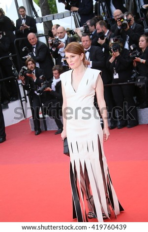Julianne Moore  attends the 'Money Monster' Premiere during the 69th annual Cannes Film Festival on May 12, 2016 in Cannes, France. - stock photo