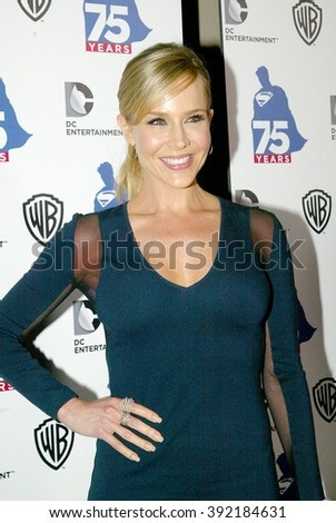 Julie Benz arrives at the DC Entertainment and Warner Bros.Superman 75th anniversary party during San Diego Comic-Con at the Hard Rock Hotel San Diego's Float Bar on July 19, 2013 in San Diego, CA.  - stock photo