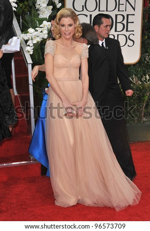 Julie Benz at the 69th Golden Globe Awards at the Beverly Hilton Hotel. January 15, 2012  Beverly Hills, CA Picture: Paul Smith / Featureflash - stock photo