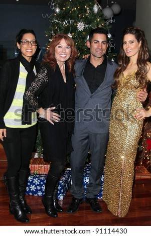 Julie Kasem, Linda Kasem, Mike Kasem, Kerri Kasem at the James Barbour Holiday Concert, Renaissance Hotel, Hollywood, CA 12-16-11 - stock photo