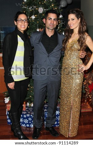 Julie Kasem, Mike Kasem, Kerri Kasem at the James Barbour Holiday Concert, Renaissance Hotel, Hollywood, CA 12-16-11 - stock photo