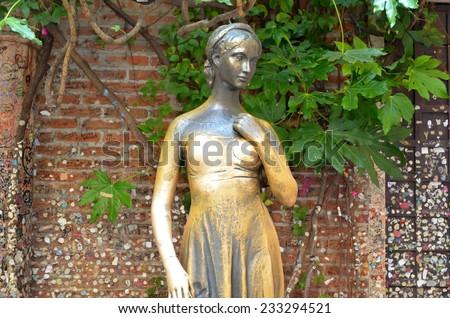 Juliet statue in Verona  - stock photo